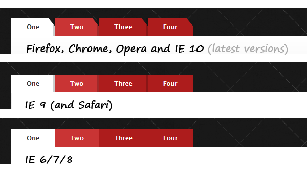 CSS3 tabs with beveled corners (3/3)