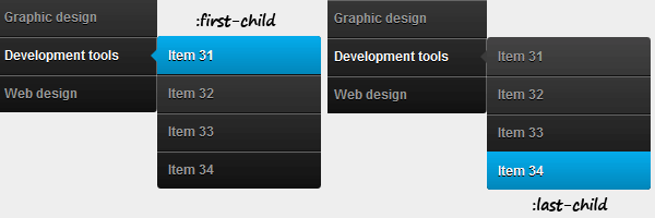css3-dropdown-first-last-items