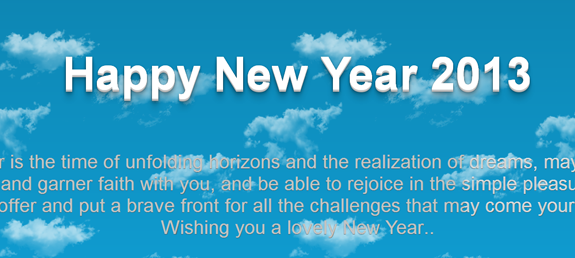 Css3 3d Effect Shine Text With Css3 Keyframe Animation Scrolling Page Background With Jquery Happy New Year Html5 Css3 Jquery Tips Tricks